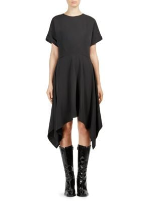 Short Sleeve Asymmetrical Dress