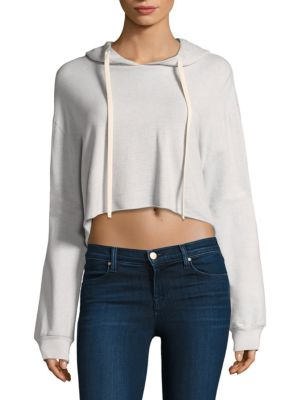 Oversized Cropped Hoodie