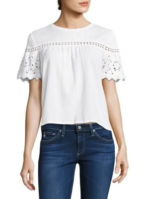 Fran Gauze Lace Top by Generation Love