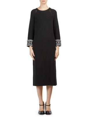 Logo Midi Sweater Dress