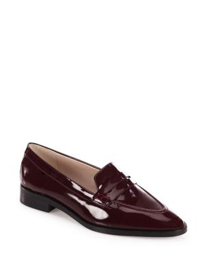 L.K. BENNETT Iona Patent Leather Penny Loafers, Red Oxblood