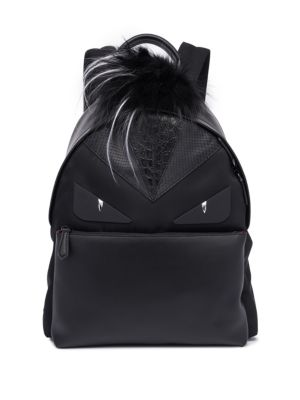 Fox Fur & Leather Backpack by Fendi