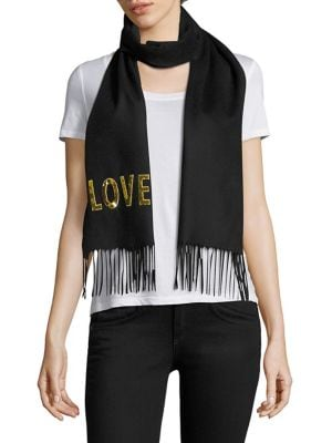 Loved Sequined Silk & Cashmere Scarf