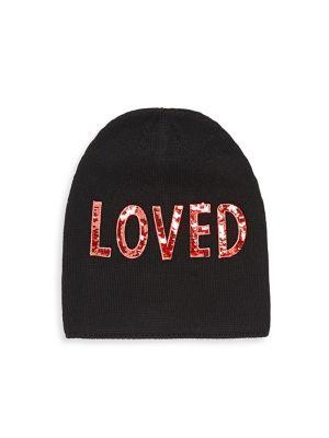 GUCCI BLACK LOVED SEQUIN EMBELLISHED HAT  b3368708dee
