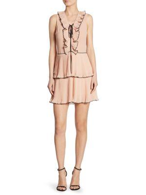 Kiki Pleated Lace-Up Dress