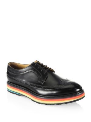 Grand Wingtip Leather Oxfords 0400094651131