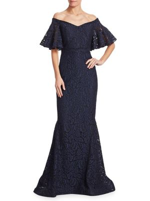 Off-the-Shoulder Lace Gown