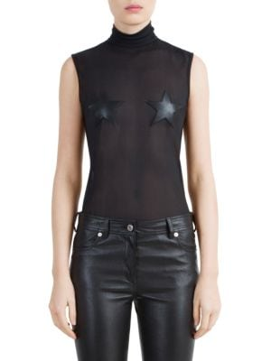 Technical Tulle Star Bodysuit by Givenchy
