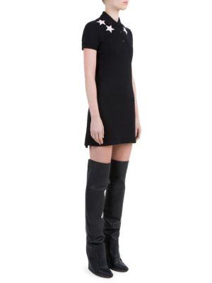 Star-Detail Cotton Pique Dress