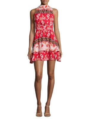 Aurora Floral-Print Silk Dress