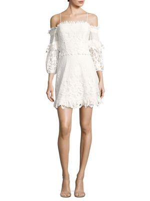 Irma Lace Off-The-Shoulder Dress