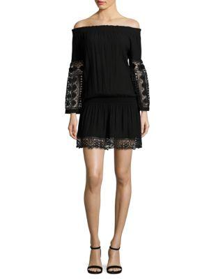 Lowri Off-The-Shoulder Crochet Dress