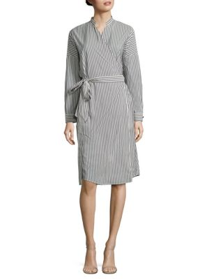 Biacco Striped Wrap Dress