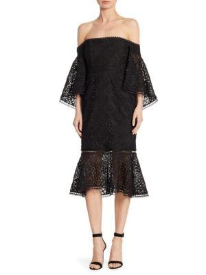 Moroccan Tile Off-the-Shoulder Dress