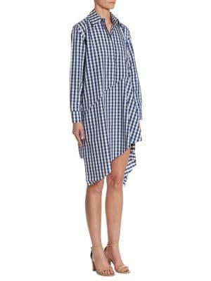 Gingham Cotton Shirt Dress