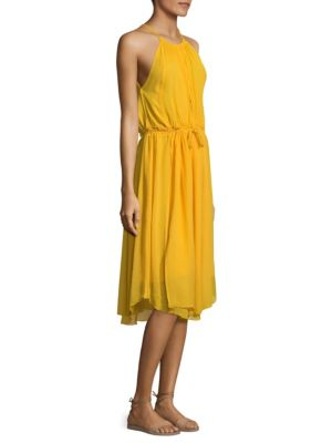 Boronia Shirred Silk Tank Dress