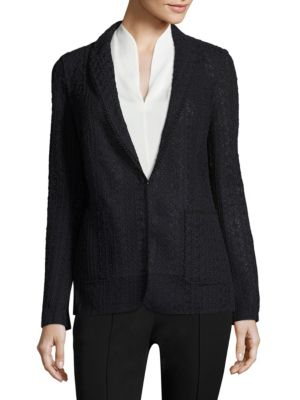 Notch Lapel Knit Jacket