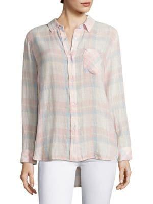 Charli Plaid Casual Button Down Shirt by Rails