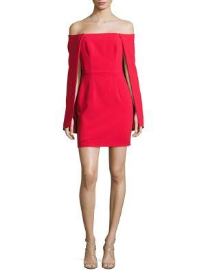 Liken Off-The-Shoulder Cocktail Mini Dress