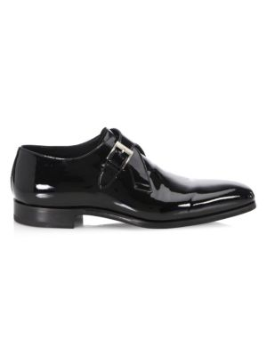 COLLECTION Patent Leather Single Monk Strap