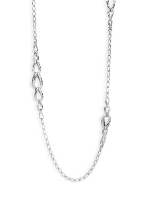 Bamboo Sterling Silver Link Necklace