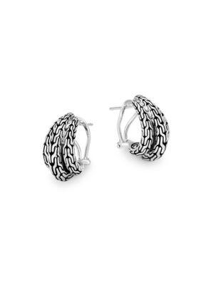 Classic Chain Huggie Hoop Earrings
