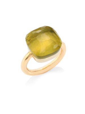 Nudo Lemon Quartz & 18K Rose Gold Ring