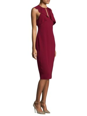 Sleeveless Ruffle Midi Dress