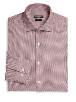 MODERN Basic Stretch Gingham Button-Down Dress Shirt