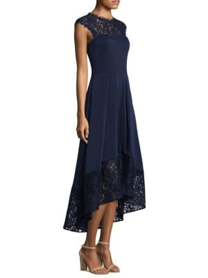 Cap Sleeve Lace Hi-Lo Dress