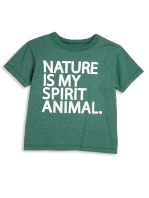 Toddler's, Little Boy's & Boy's Nature Is My Spirit Animal Jersey Tee