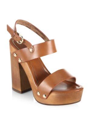 Dea Leather Platform Sandals