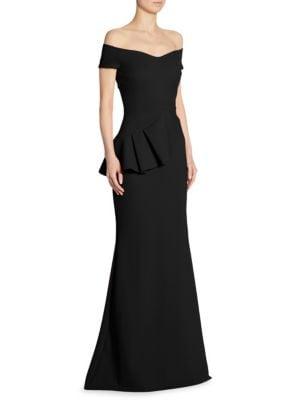 Buy La Petite Robe di Chiara Boni Lamia Off-The-Shoulder Peplum Gown online with Australia wide shipping