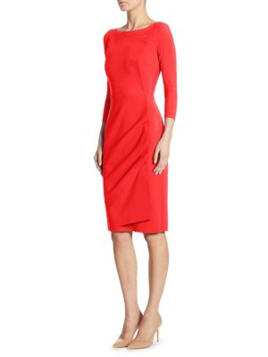 Rhea Wrap-Effect Sheath Dress