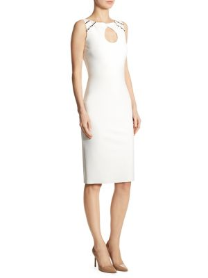 Bibi Studded Keyhole Sheath Dress