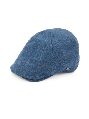 Six-Panel Herringbone Newsboy Cap