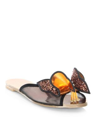 Lana Butterfly Leather Slides