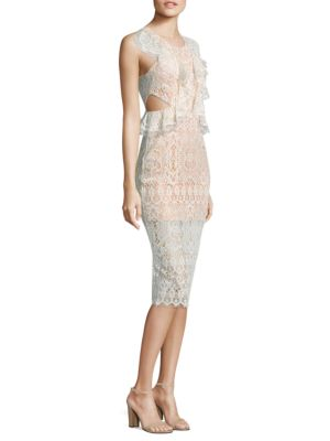 Pepa Cutout Ruffled Lace Dress