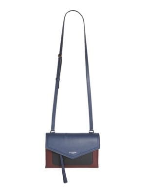 Duetto Tri-Tone Leather Crossbody Bag