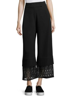 Liz Crepe Wide Legs Pants