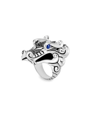 Legends Naga Black & Blue Sapphire Ring