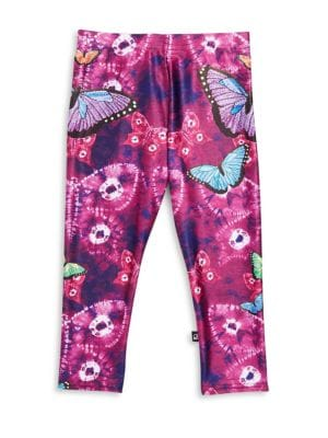 Girl's Butterfly Print Leggings