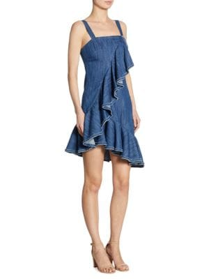 Shiloh Denim Ruffle Dress