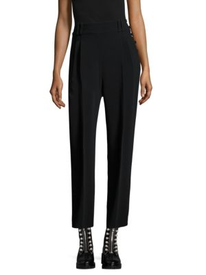 Matte High Twist Crepe Tailored Pants