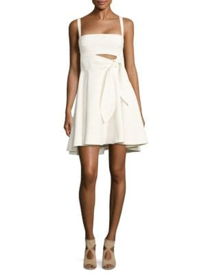 Nyma Tie-Front Fit-&-Flare Dress