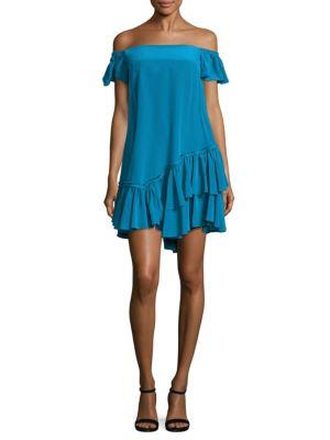 Minella Ruffled Off-The-Shoulder Dress