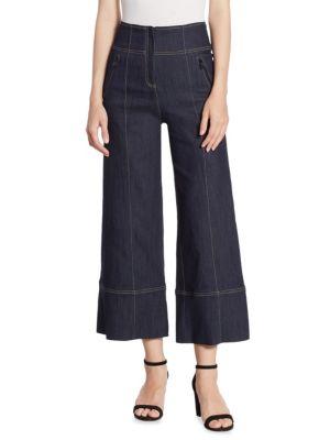 Marla Cropped Wide-Leg Denim Pants