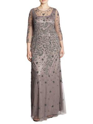 Elegante Diadema Tulle Floral Gown