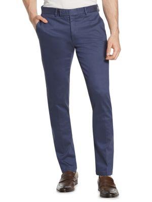 Slim-Fit Cotton Dress Pants
