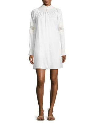 Cora Embroidered Cotton Shift Dress